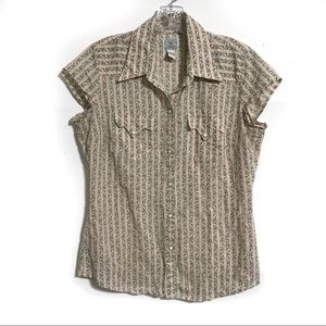 Lucky Brand Women's Dungarees America Blouse Large